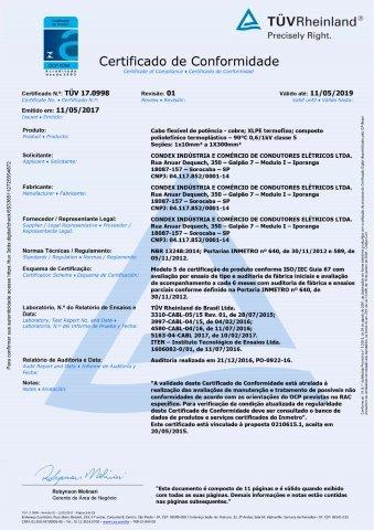 TUV 17.0998  Atox 1 kV Unipolar  rev. 1