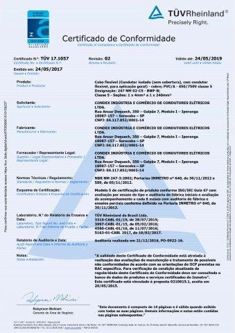 TUV 17.1057 Flexível 450-750V C5 rev.2