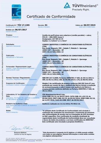 TUV 17.1205 Cordão Paralelo rev. 1